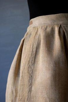 画像3: 【ササキチホ】古布の麻 バレル巻きスカート (3)