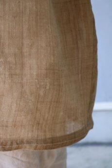 画像8: 【ササキチホ】古布の麻 バレル巻きスカート (8)