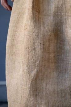 画像9: 【ササキチホ】古布の麻 バレル巻きスカート (9)