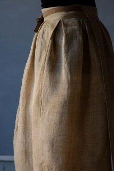 画像12: 【ササキチホ】古布の麻 バレル巻きスカート (12)