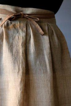画像10: 【ササキチホ】古布の麻 バレル巻きスカート (10)