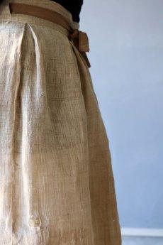画像7: 【ササキチホ】古布の麻 バレル巻きスカート (7)