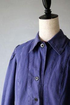 画像3: 【フランス】1967年の女性用ブルーワークコート(小さめ) (3)