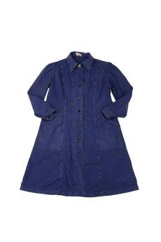 画像1: 【フランス】1967年の女性用ブルーワークコート(小さめ) (1)