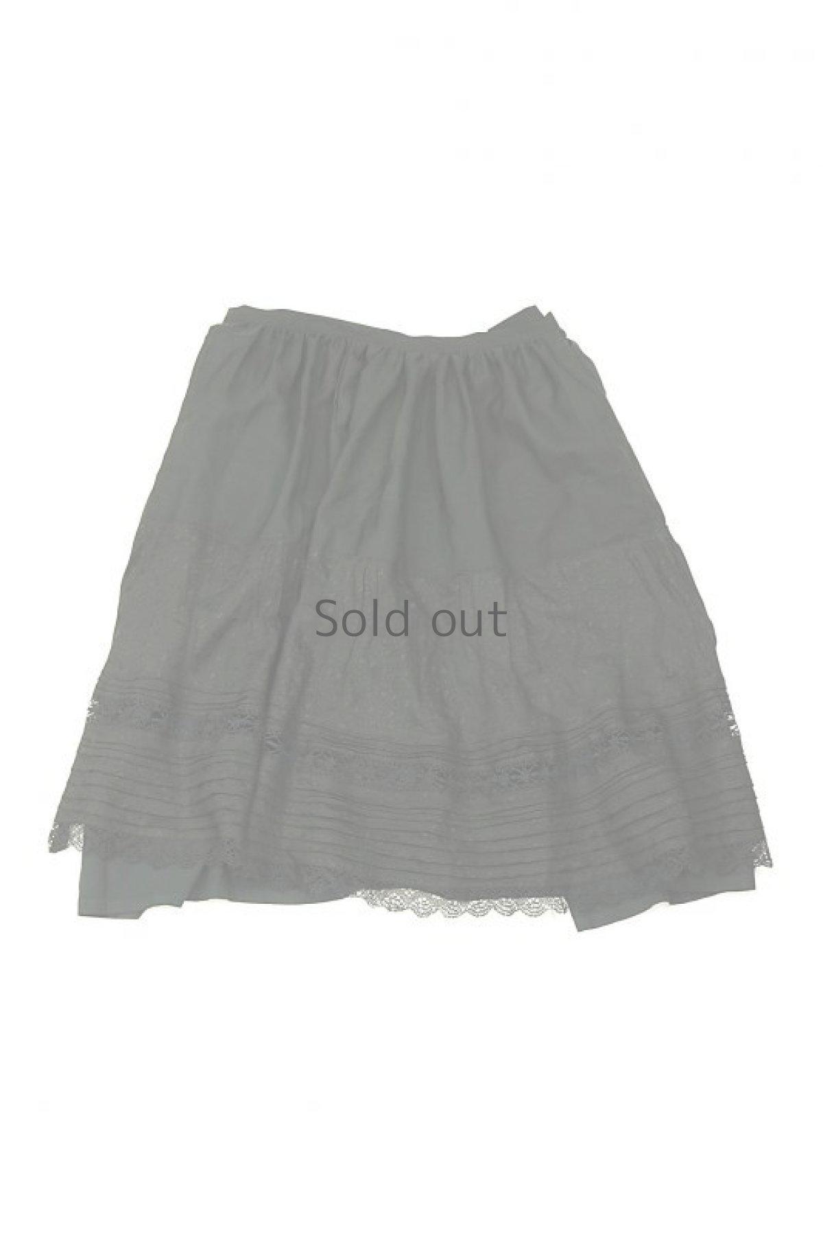 画像1: 【ササキチホ】リメイク ブラックレース 重ね巻きスカート (1)
