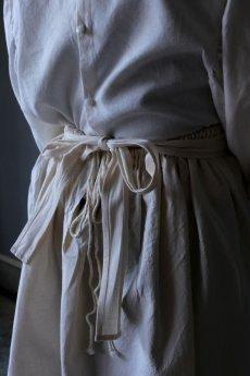 画像8: 【ササキチホ】アンティークリネン 手拭き付 エプロンスカート (8)