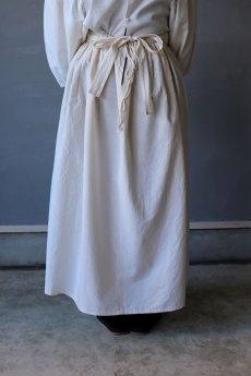 画像7: 【ササキチホ】アンティークリネン 手拭き付 エプロンスカート (7)