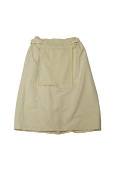 画像1: 【ササキチホ】アンティークリネン 手拭き付 エプロンスカート (1)