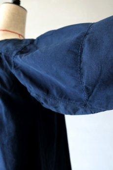 画像14: 【フランス】アンティークリネン×染 ヘンリーネック長袖ワンピース(紺色) (14)