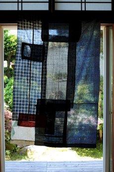 画像14: 【MITSUGU SASAKI】日本古布 パッチワーク壁掛け (14)