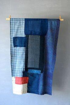 画像11: 【MITSUGU SASAKI】日本古布 パッチワーク壁掛け (11)