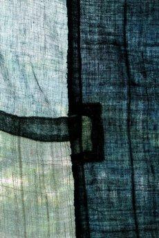 画像17: 【MITSUGU SASAKI】日本古布 パッチワーク壁掛け (ウコンの蚊帳) (17)
