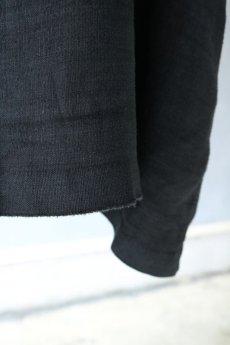 画像7: 【フランス】アンティークリネン×染 スクエアネック半袖ワンピース(ブラック) (7)