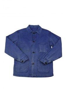 画像1: 【フランス】1960年代 ブルーワークジャケット(小さめ) (1)