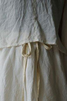 画像5: 【ササキチホ】麻古布 バルーン袖ブラウス+巻きスカート (5)