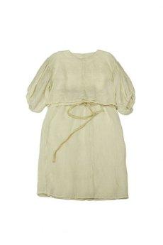 画像1: 【ササキチホ】麻古布 バルーン袖ブラウス+巻きスカート (1)