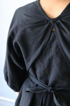 画像9: 【ササキチホ】アンティークコットン×染め アドスリーブス(5分袖 / 黒) (9)