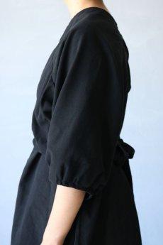 画像8: 【ササキチホ】アンティークコットン×染め アドスリーブス(5分袖 / 黒) (8)