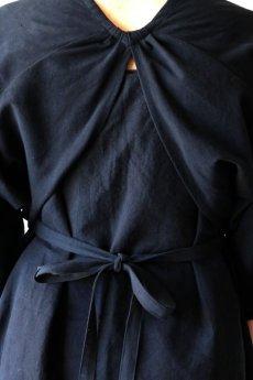 画像11: 【ササキチホ】アンティークコットン×染め アドスリーブス(5分袖 / 黒) (11)