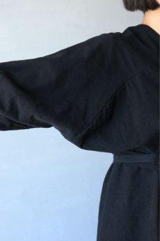 画像7: 【ササキチホ】アンティークコットン×染め アドスリーブス(5分袖 / 黒) (7)