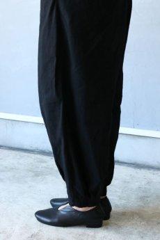画像8: 【ササキチホ】アンティークリネン×染 カンフーパンツ(黒) (8)