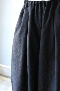 画像10: 【ササキチホ】アンティークリネン×染 カンフーパンツ(黒) (10)