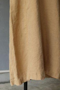 画像6: 【フランス】アンティークリネン×染 ショートスリーブ ワンピース(ベージュ/イニシャルMO) (6)