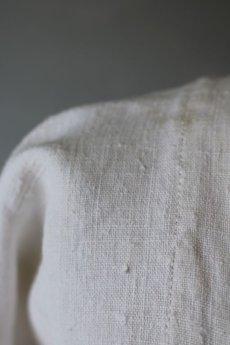 画像6: 【フランス】アンティークリネン ハーフスリーブ スクェアネックワンピース(イニシャルMA) (6)