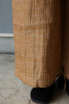 画像5: 【ササキチホ】古布麻 裾紐 ワイドパンツ(小千谷ちぢみ) (5)