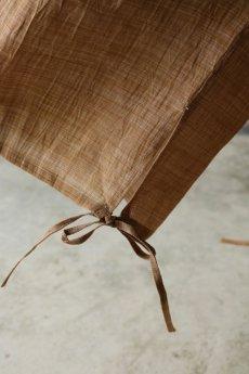 画像11: 【ササキチホ】古布麻 裾紐 ワイドパンツ(小千谷ちぢみ) (11)