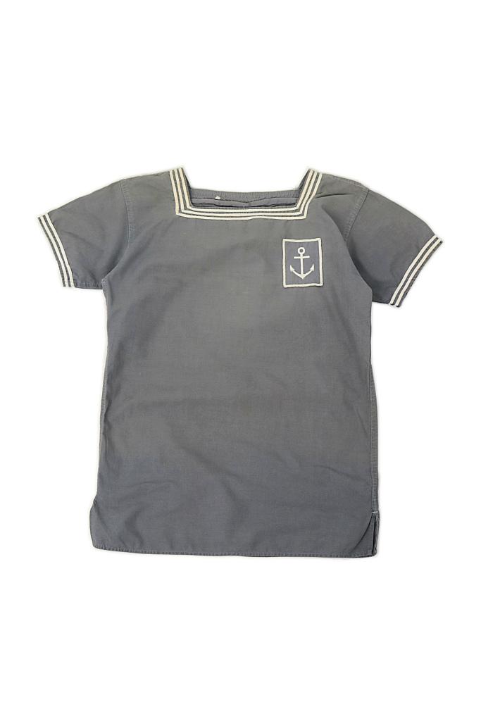 画像1: 【フランス】1950年代 海軍マリンシャツ(グレー) (1)