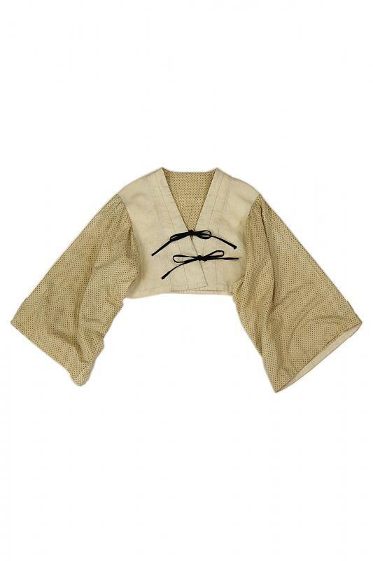 画像1: 【ササキチホ】古布 短上衣(前紐) (1)