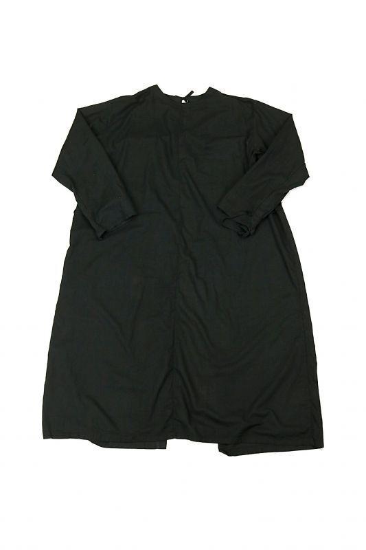画像1: 【チェコ】ビンテージ サージカルワークドレス(後染/ブラック) (1)