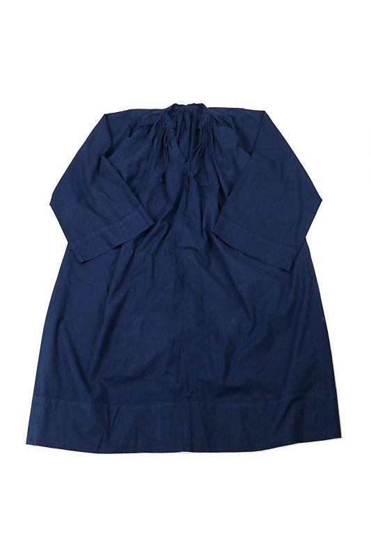 画像1: 【フランス】20世紀中期の教会用ロングスモックドレス(後染め/紺色) (1)
