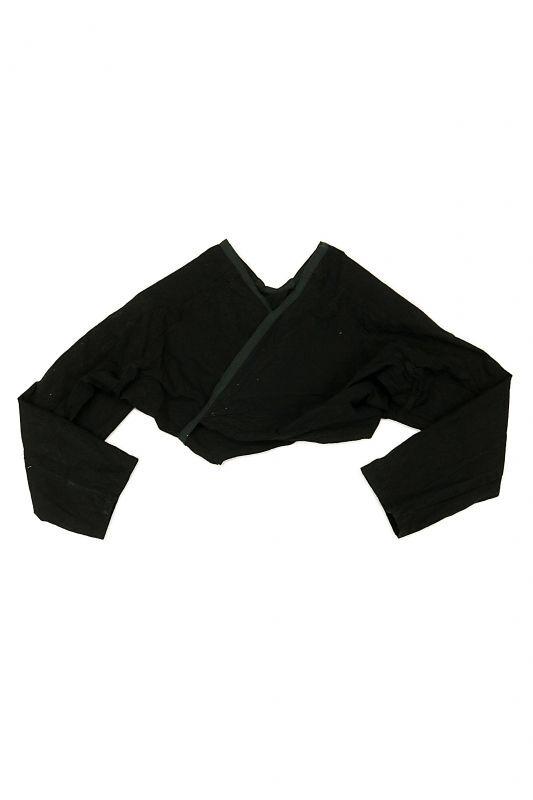 画像1: 【ササキチホ】古布 巻上衣 後染黒 (1)