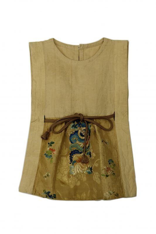 画像1: 【ササキチホ】日本古布×中国古布 四角衣 (1)