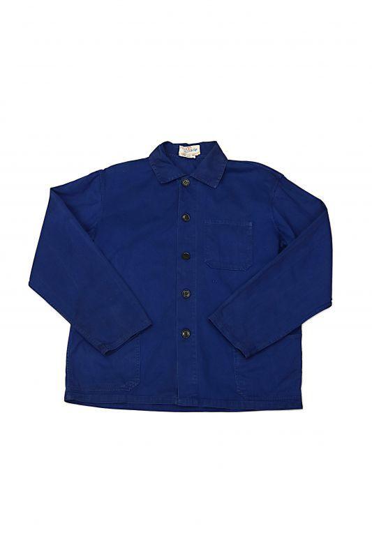 画像1: 【中国】1960年代 ブルーワークジャケット(中国製) (1)