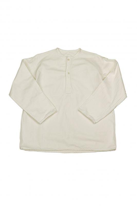 画像1: 【旧ソビエト】ビンテージミリタリー ホワイトシャツ(裏起毛) (1)