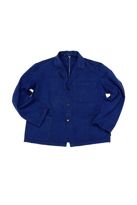 画像1: 【イタリア】1950年代 ブルーワークジャケット(ノッチドラペル) (1)